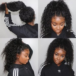 Deep Curly Full Lace Wigs 150% Human Hair Lace Front Wigs Short Bob 360 Lace Frontal Wigs For Black Women