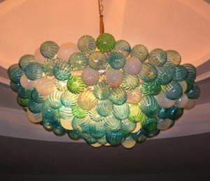 Soffiato Energy Saving Light Source lampadario Bubble Soggiorno Luci arte decorativa multicolore a mano Glass Art Chandelier