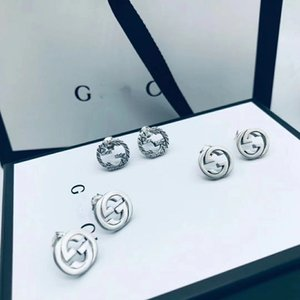 Nuevo diseño del oído de lujo Carta pendientes de plata del pendiente de la manera del encanto de Navidad pendientes de plata Cuffsterling joyería Suministro mayor de China