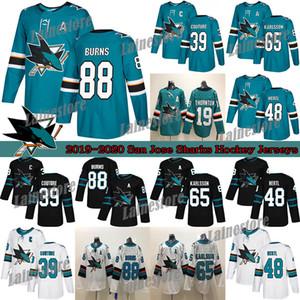 Сан - Хосе Шаркс 88 Brent Burns 65 Erik Karlsson 19 Thornton 9 Эвандер Кейн 48 Hertl Зеленый Белый Hockey трикотажных изделий