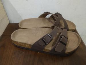 Mayari 2020 Novo estilo Praia Verão Cork Slipper Flip Flops Sandals Mulheres Homens ocasionais da cor Slides Shoes Plano frete grátis 35-46
