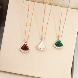Women necklaces Fashion jewelry S925 sterling silver Cubic Zircon White Gold Plated necklaces women Party Gift 3 colores