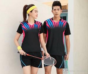 Sport Marke trocknet schnell Breathable Badminton Hemd, Frauen Männer Tischtennis-Team Jogging Fitness-Trainings-Polo-T-Shirts
