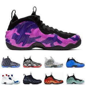 Scarpe da basket un Penny Hardaway Uomini Sport Melanzana Air Comfort viola e sostenere Habanero schiume Sneakers 7-13