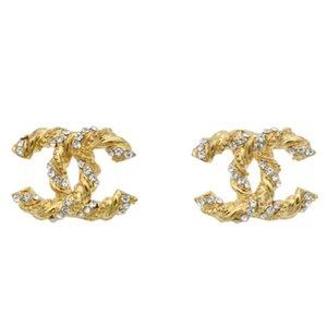 Nouvelle arrivée célèbre designer bijoux en or Boucles d'oreilles plaqué Marque Boucles d'oreilles pour les femmes de luxe Boucle d'oreille meilleur cadeau de Noël