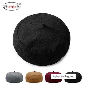temporada sombrero de lana boina hombres mujeres Hua Jia Mao superior plana di Zhu Mao cola corta de Shorty