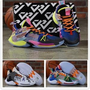 Nueva Russell Westbrook II ¿Por qué no es cero 0.2 zapatos de baloncesto para los zapatos de los hombres del deporte Blanco Gris Verde Formación zapatillas de deporte al aire libre 40-46