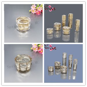 50PCS 15G Empty Cream Jar Plastic Acrylic Refillable Bottles Gold Bird's Nest Diamond Pot Travel Face Lotion Cosmetic Container