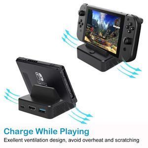 Portacápsulas para NS Swich Juego de convertidor de vídeo portátil de reemplazo mini HDMI TV Muelle estación de carga para Nintendo conmutador