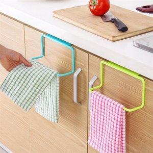 Door Tea Towel Rack Bar Hanging Holder Rail Organizer Bathroom Cabinet Cupboard Hanger Kitchen Accessories TB Sale