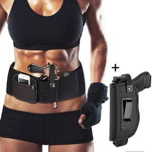 Belly banda Holster para levar escondido Fits Tactical Elastic Belt Holster
