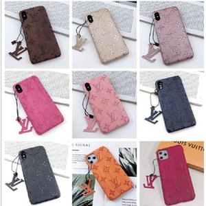 For iphone 11 pro max Luxury Phone Cases for iPhone X XS XR XsMax 7 8 plus Embossed Leather Designer Case Hard Shell Cover