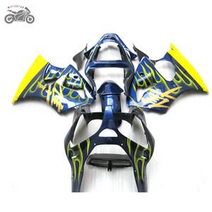 carénages injection Kit pour habillage de la moto bleu jaune Kawasaki Ninja ZX-6R 2000 2001 2002 636 00-02 ZX6R 00 01 02 ZX 6R