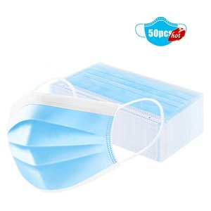 Cartoon Adultren Face Masks 3 Ply Disposable 50PCS Mouth Masks Earloop Polypropylene Adult From Sick Fast Delivery In Stock ST6U