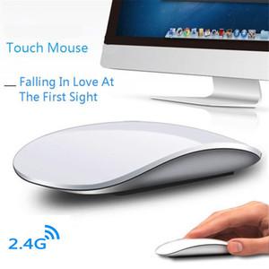 لاسلكية القوس اللمس فأرة الكومبيوتر مريح رقيقة جدا USB بصري Mause 3D سليم PC ماجيك الفئران 2 لأجهزة الكمبيوتر المحمول