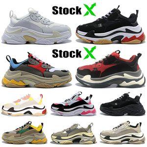 2020 balenciaga triple s مصمم أحذية ثلاثية s للرجال النساء أحذية رياضية أزواج 17FW أسود أبيض أحمر وردي رجل المدربين الأزياء عارضة أبي حذاء زيادة حذاء