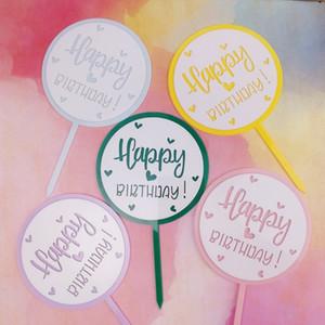 New Happy Birthday Cake Topper acrilico Topper cuore doppio strato Topper per ragazze Decorazioni per feste di compleanno Baby Shower