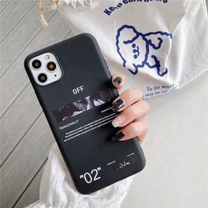 Hot off ow painting stripes soft silicon cover case for iphone 7 7plus 8 8plus X XR XS MAX 11 pro white crossing phone couqe