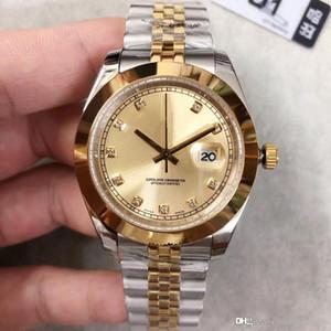 2019 heißer Verkauf U1 Fabrik Qualitätsmänner automatische mechanische Uhr DAYJUST m126303-0012 Serie 41MM Golddiamantzifferblatt 316L Jubiläumsband