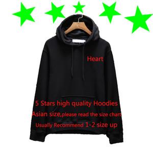 Дизайнер Толстовка Нового прибытия Brand Hoodie Осень Весна Mens Hoodie Свободный повседневный Hoodie Мужчина и Женщины Толстого сердце Вышивка пуловер