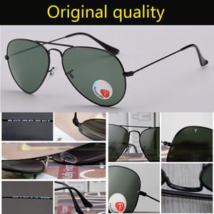 высокого качество размера 58мм 62мм авиации металлического каркас качество Мужчины mowan очки поляризованного Brand Design Pilot Мужских ВС очки вождение Gafas
