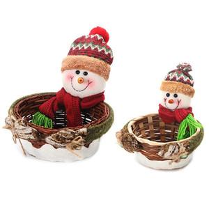 크리스마스 캔디 저장 바구니 장식 산타 클로스 저장 바구니 선물 크리스마스 장식 홈 30 * 20 * 8CM
