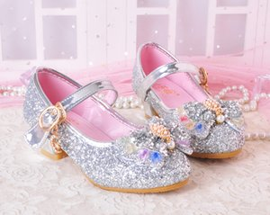 Lovely Silver Red Fuchsia Flower Girls' Shoes Kids' Shoes Girl's Wedding Shoes Kids' Accessories SIZE 26-37 S321001
