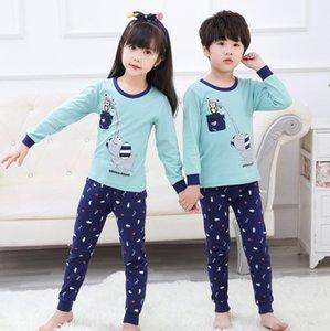 RLMGP 2020 conjunto de ropa interior de algodón de dibujos animados pantalones de invierno de los niños impresión caliente Caliente la cubierta ropa interior y ropa de otoño otoño de los niños de coágulos