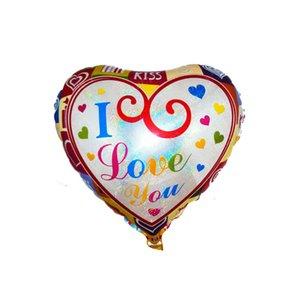 18 인치 풍선 발렌타인 데이 파티 ballons 장식 거품 알루미늄 필름 풍선 나는 당신을 사랑합니다 풍선 장난감 공급