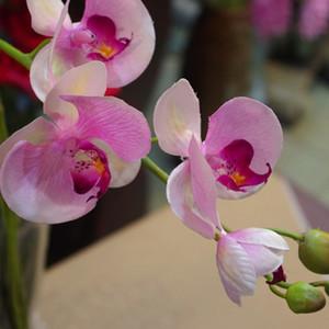 Party Supplies Phalaenopsis Simulation Orchid 9 Wedding Blumen-Fertigkeit-Geschenk Schöner Garten Ornaments künstliche Anlage Easy Care