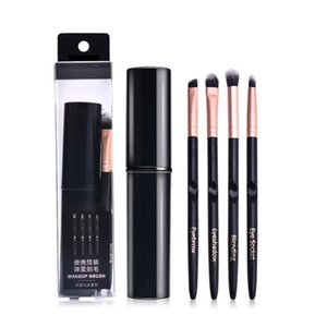 4pcs Mini Maquillage Pinceaux Fondation fard à joues Pinceau à lèvres brosse cosmétiques Kit Outils de maquillage Recommander
