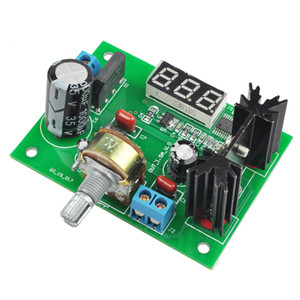 FULL-LM317 Einstellbare Spannungs-Regler Step-down-Stromversorgungsmodul mit LED-Meter