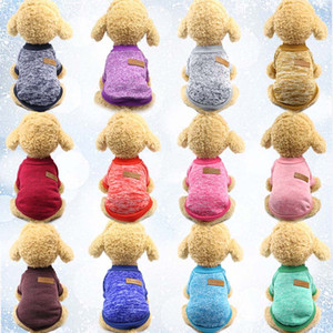 Vêtements de chien à tricoter Vêtements Automne Hiver Pet Chien Pull Manteau Vêtements classique Hoodied Defensive Puppy Chat Chiens Pull Chien Shirt WX9-1329