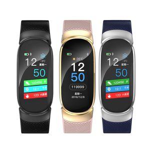 QW16 للماء الذكية سوار الذكية الفرقة ip67 القلب معدل اللياقة تعقب smartwatch التحكم عن معصمه الرجال ووتش الذكية