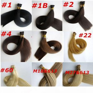 150pcs 150g Pre bonded Flat Tip Hair Extensions 18 20 22 24inch M27&613 Brazilian Indian Remy Keratin Human Hair Extensions