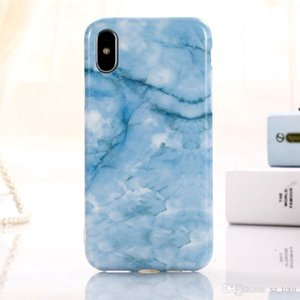 Mytoto Luxury IMD Marble Soft TPU Cover for iPhone 6 6S 7 8 Plus Case for iPhone X Cases Blue Ray Glossy Silicon Cases Capa Coque