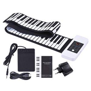 88 tasti Roll Up Piano Silicon mano elettronico della tastiera USB Built-in agli ioni di litio e dell'altoparlante forte con un pedale