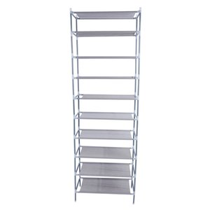 10 Tiers Non-woven Fabric Shoe Rack Free Standing Walk-in Closet Shoes Tower Organizer Cabinet