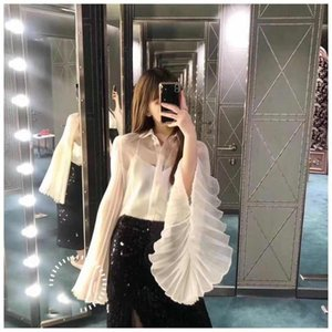 Silk automne High 7.04 Color Blouse Femmes 2020 Qualité Mode Tops 2 Chemise GDNZ Dames GTJSS