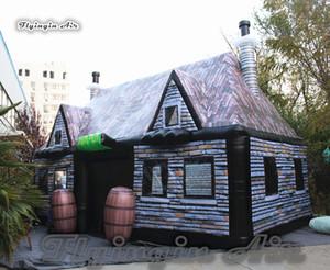 Открытый Надувной Паб 8 м Long Airblown Сад Палатка Кемпинга Pop Up Бар Дом Для Семейной Вечеринки И Событий