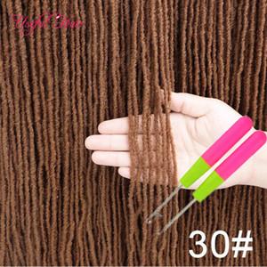 Afro Crochet Tresses Soeur Locks Ombre Blonde crochets sans 18inch Brown Bug cheveux synthétiques pour les femmes Crochet cheveux Soeur Locks Extensions cheveux