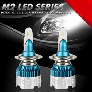 2 X 50W 6000LM Mi2 coche LED bulbo de la linterna H1 H3 H4 H7 H8 / H9 / H11 9005 9006 Car Kit de faros antiniebla blanco accesorios 6500K