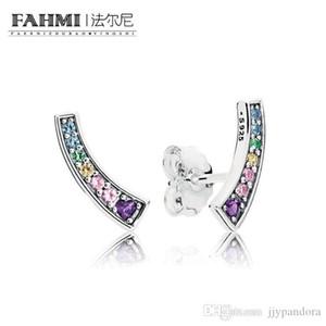 FAMHI 100% стерлингового серебра 925 пробы 1:1 подлинный классический 297077NRPMX изысканные женские Свадебные серьги ювелирные изделия
