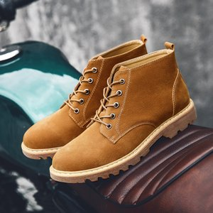 CIMIM New Outdoor Big Size Men'S Boots Winter New Tooling Leather Boots Fashion Comfortable Snow