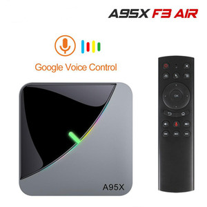 A95X F3 aire 8 K RGB luz TV caja Amlogic S905X3 Android 9, 0 4G 32G 64G servidor multimedia Youtube reproductor multimedia H96 Max