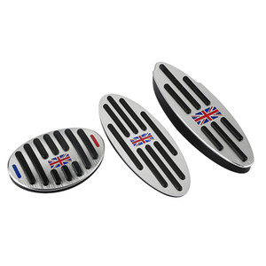 UK Flag logo Mini Aluminum AT Footrest Gas Brake Clutch Pedal Cover For BMW Mini Cooper JCW S R55 R56 R60 R61 F54 F55 F56 F60