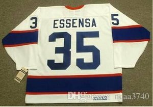 Men #35 BOB ESSENSA Winnipeg Jets 1991 CCM Vintage Home Hockey Jersey or custom any name or number retro Jersey