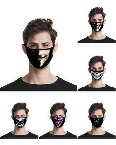 estilo de Spider-Man 3D impresión Joker cara diseñador de algodón máscara mascarillas reutilizables puerta de salida deporte del algodón de la máscara diseñador