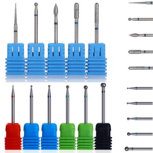 Types Nail Drill Bit 11 Burr Milling Gel Nails Cutter File for Electric Drill Accessories Nail Art Tool Kit