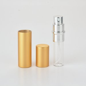 5ml Portable Mini Aluminum Refillable Perfume Bottle With Spray Empty Makeup Containers With Atomizer For Traveler RRA2873